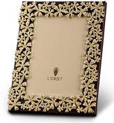 """L'OBJET Gold Garland 4"""" x 6"""" Frame"""