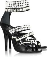Crystal embellished studded sandals