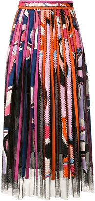 Emilio Pucci Striped Midi Skirt
