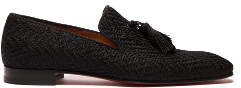 new products e3002 65cce Officialito Woven Tassel Loafers - Mens - Black