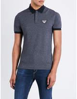 Armani Jeans Eagle-patch cotton-blend piqué polo shirt