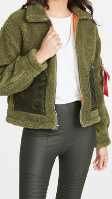Alpha Industries Cropped Sherpa Utility Jacket