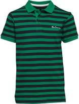 Ben Sherman Junior Boys Pique Stripe Polo Kelly Green