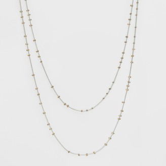 Universal Thread Long Station Chains with Scattered Crimps Layered Necklace - Universal ThreadTM