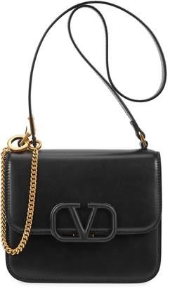 Valentino VSling small black leather cross-body bag