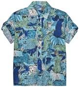 Little Marc Jacobs Blue Jungle and Leopard Print Shirt
