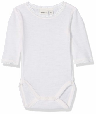 Name It Baby Girls' Nbfwang Wool Needle Ls Body Noos Footies