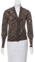 Akris Punto Abstract Pattern Wool Cardigan