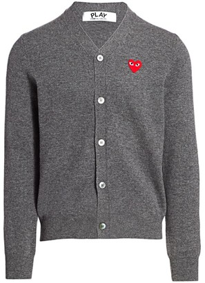 Comme des Garcons Wool Heart Cardigan