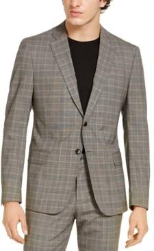 Ax Armani Exchange Armani Exchange Men's Modern-Fit Tan Glen Plaid Suit Jacket, Created for Macy's