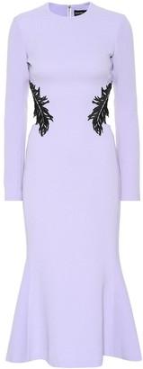 David Koma Wool-blend crepe dress