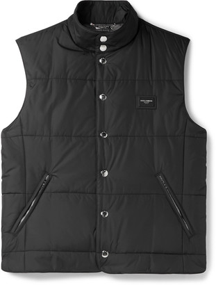 Dolce & Gabbana Slim-Fit Logo-Appliqued Quilted Shell Gilet