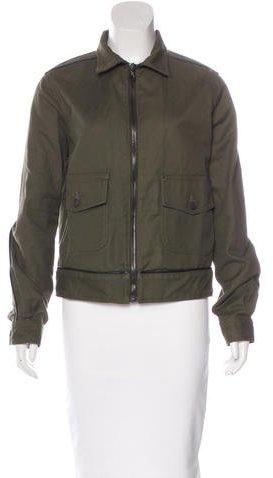 Rag & Bone Leather-Trimmed Zip-Up Jacket