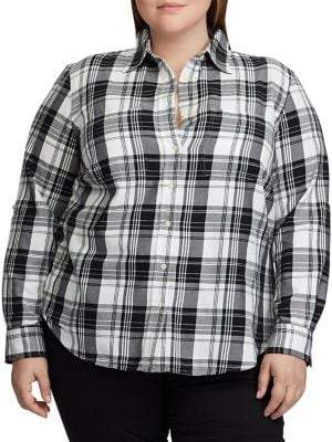 Lauren Ralph Lauren Plus Straight-Fit Plaid Shirt