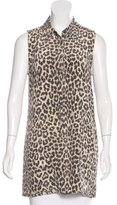 Equipment Silk Leopard Print Tunic
