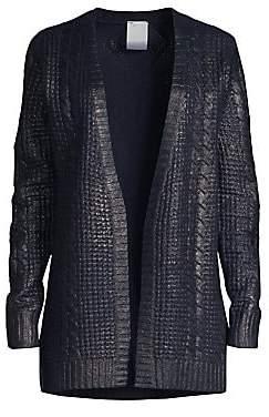 b060a3fc2ec251 TSE x SFA Women's Cashmere Metallic Cabled Cardigan