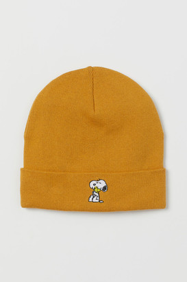 H&M Embroidered-detail Hat - Yellow