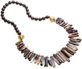 Nest Beaded Necklace, Agate/Horn