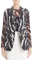 Max Mara Women's Edda Print Linen Vest