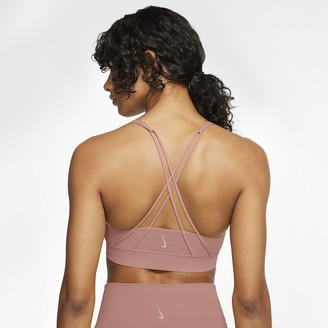 Nike Women's Medium-Support Sports Bra Swoosh Luxe