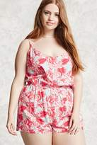 Forever 21 FOREVER 21+ Plus Size Tropical Romper