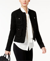 MICHAEL Michael Kors Frayed Tweed Jacket