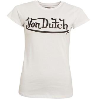 Von Dutch Womens Oval Crew T-Shirt White/Black