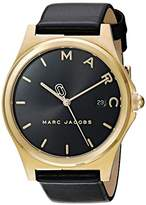 Marc by Marc Jacobs Women's 'Henry' Quartz Stainless Steel and Leather Casual Watch