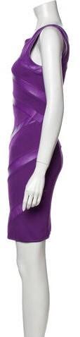 Thumbnail for your product : Jitrois V-Neck Mini Dress Purple