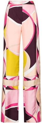 Emilio Pucci x Browns 50 abstract-print wide-leg silk trousers