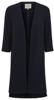 George Open Front Tie Side Longline Jacket