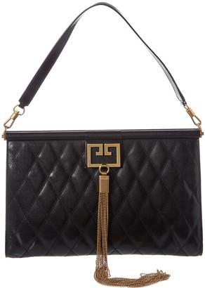 Givenchy Gem Large Leather Shoulder Bag