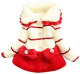Aivtalk Baby Girls Princess Faux Fur Coat Thick Padded Jacket Size 90