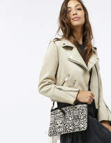 Accessorize Amber Leather Snake Cross Body Bag