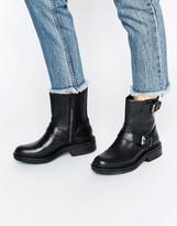 Calvin Klein Jeans Flynn Leather Biker Boots