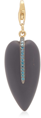 Have A Heart x MUSE Elena Votsi Onyx Heart Charm with Blue Diamonds