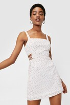 Thumbnail for your product : Nasty Gal Womens Working Cherry Hard High-Waisted Mini Skirt - White - 14