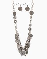 Charming charlie Boho Disc Necklace Set