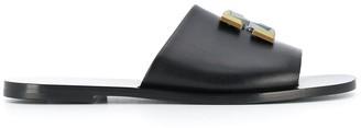 Off-White Arrows plaque slide sandals