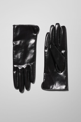 Weekday Woozy Gloves - Black