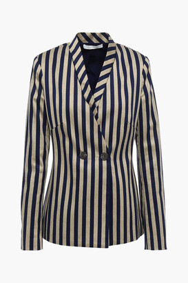 Jonathan Simkhai Double-breasted Striped Cotton-blend Blazer