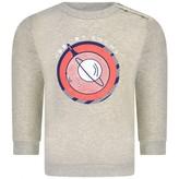 Ikks IKKSBaby Boys Grey Melange Space Sweatshirt