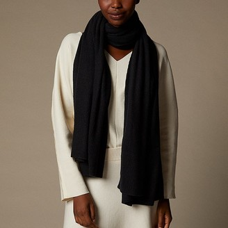Love & Lore Love And Lore Ribbed Travel Wrap Black