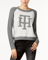 Tommy Hilfiger Cable-Knit Graphic Sweater, Only at Macy's