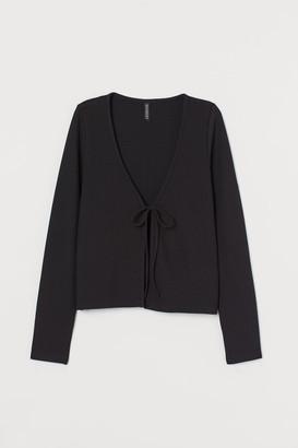 H&M Ribbed Cardigan - Black