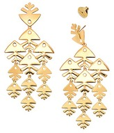 Tory Burch Metal Fish Chandelier Earring