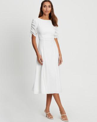 CHANCERY - Women's White Bridesmaid Dresses - Jeremiah Midi - Size One Size, 8 at The Iconic