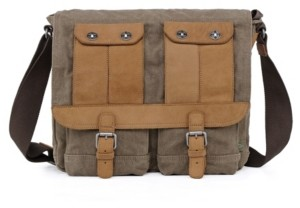 TSD BRAND Valley River Canvas Messenger Bag