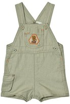 Benetton Khaki Cargo Style Dungarees with Pocket Patch