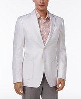 Tallia Men's Big and Tall Slim-Fit White Tonal Geo Sport Coat